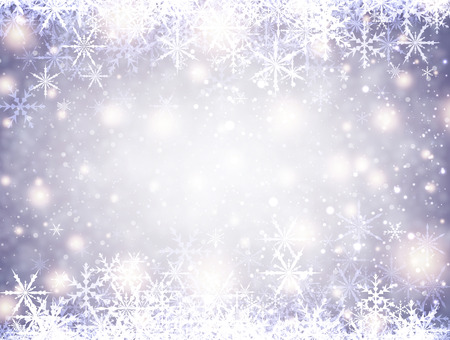 original sparkle: Lilac winter luminous background with snowflakes. Vector illustration.