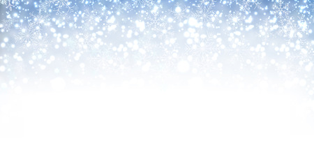 christmas wallpaper: Winter banner with snow. Vector illustration.