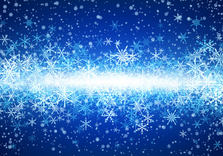 Blue winter background with snowflakes. Illustration