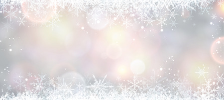 original sparkle: Winter banner with snowflakes. Illustration