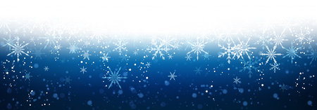 blue christmas background: Blue winter banner with snowflakes.