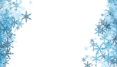 white winter: White winter background with blue snowflakes. Illustration