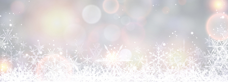original sparkle: Winter banner with snowflakes. Vector illustration. Illustration
