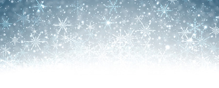 wintery: Winter banner with snowflakes. Vector illustration. Illustration