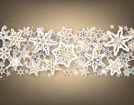 winter background: Gray winter background with snowflakes. Vector illustration. Illustration
