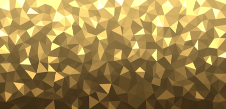 mosaic: Geometric mosaic abstract banner with yellow triangles. Vector illustration.