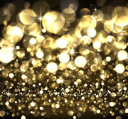 luminous: Abstract festive golden luminous background. Vector illustration.