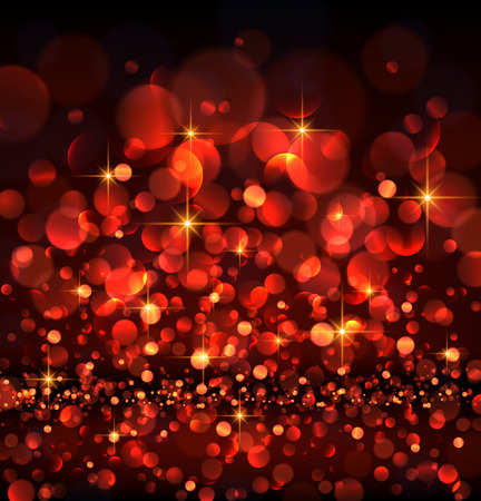 abstract backgrounds: Abstract festive red luminous background. Vector illustration.