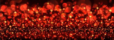 luminous: Abstract festive red luminous banner. Vector illustration. Illustration