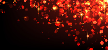 sparkling: Red abstract luminous background. Vector illustration. Illustration