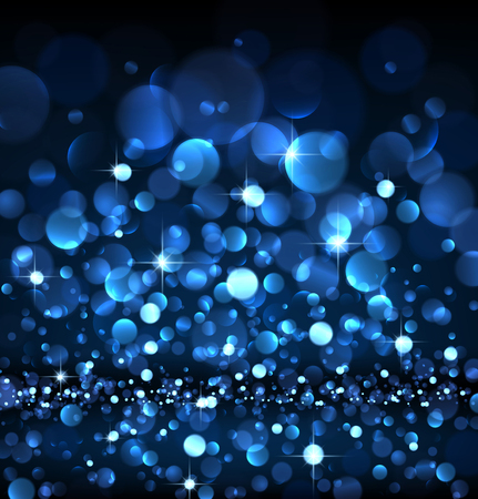 blue abstract background: Abstract festive blue luminous background. Vector illustration.