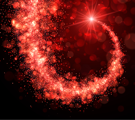 red swirl: Abstract Christmas background with red swirl. Vector illustration.