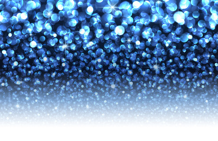 textured effect: Blue abstract Christmas blurred luminous background. Vector illustration. Illustration