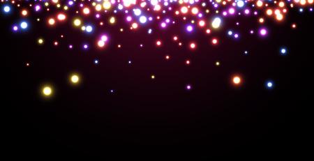 luminous: Abstract Christmas vinous luminous background. Vector illustration.