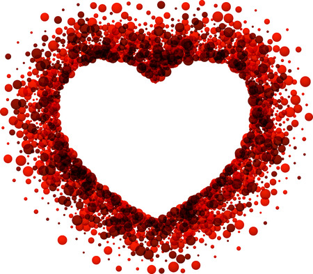 tender passion: Valentines love background with red heart. Vector paper illustration.
