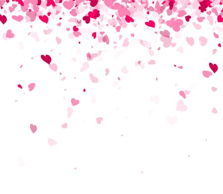 valentines background: Love valentines background with pink hearts. Vector illustration. Illustration