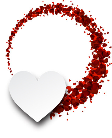 valentines background: Love valentines background with hearts. Vector paper illustration. Illustration