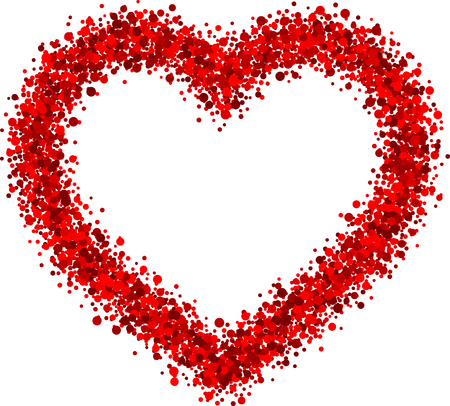 paper heart: Valentines love background with red heart. Vector paper illustration.