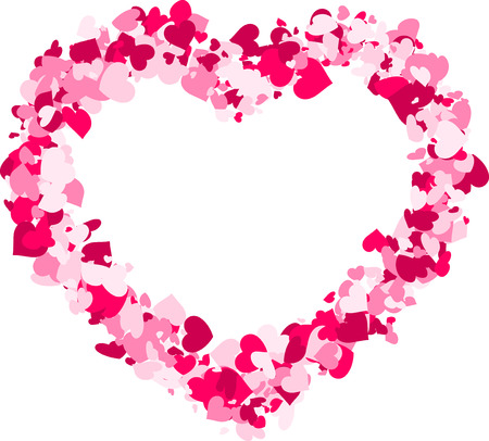 tender passion: Valentines love background with pink heart. Vector paper illustration.