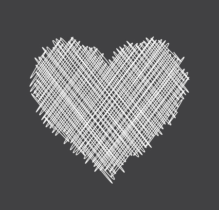 abstract love: Gray Valentines love background with white abstract heart. Vector illustration.