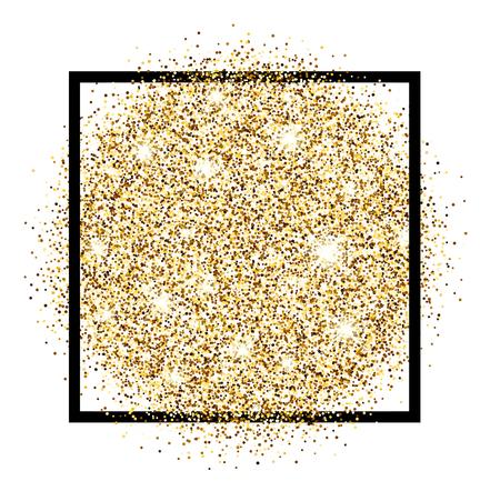 luminous: White festive golden luminous sandy background. Vector illustration. Illustration