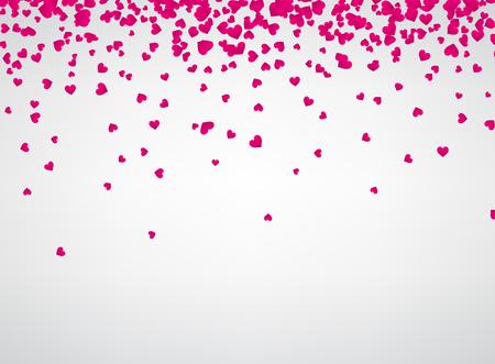 Weiß Liebe Valentinstag Hintergrund mit rosa Herzen. Vektor-Papier-Illustration. Standard-Bild - 70455932