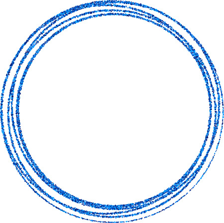 original circular abstract: Abstract blue round frame on white background. Vector paper illustration.