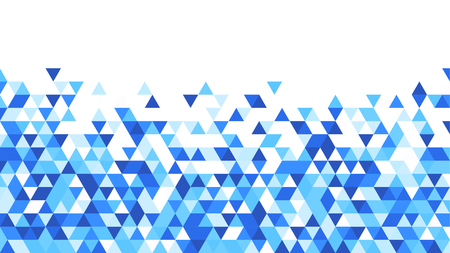 paper graphic: White graphic background with blue triangles. Vector paper illustration.