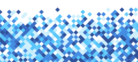 White graphic background with blue rhombus. Vector paper illustration.