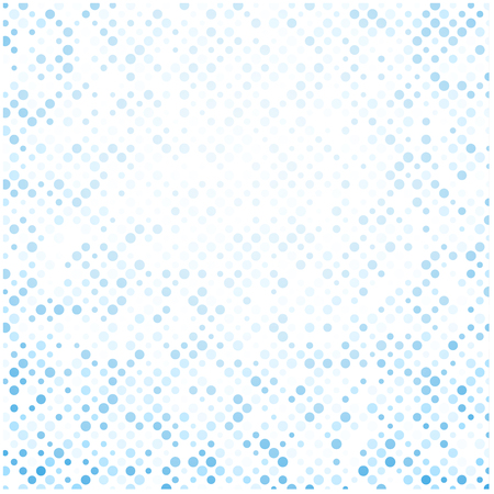oncept: White abstract background with blue dots pattern. Vector paper illustration. Illustration