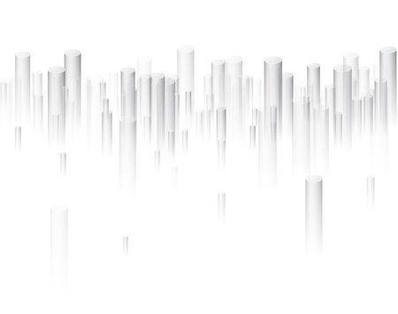丸い灰色の視点 3 d 幾何学的背景白。ベクトルの紙の図。