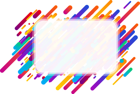 Colorful transparent abstract rectangular background on white. Vector paper illustration. Illustration
