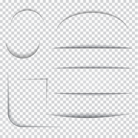 slotted: Set of slotted templates on gray checkered background. Vector paper illustration.