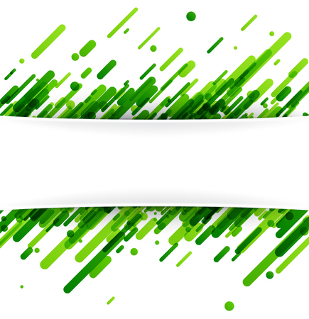 Green abstract background on white. Vector paper illustration. Illustration