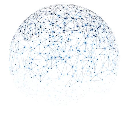 抽象的なグローバルコミュニケーションのラウンド バック グラウンド。ベクトルの紙の図。 写真素材 - 79101864