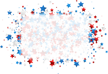 USA Independence Day defocused background with stars. Vector illustration. Çizim