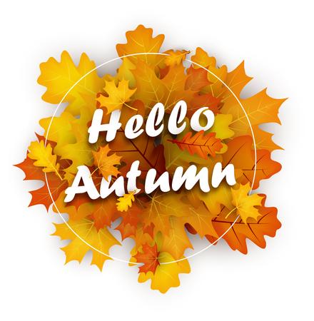 Hello autumn banner.