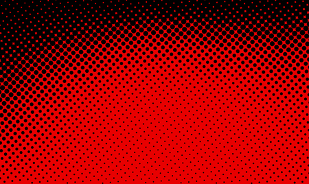 Bright black and red abstract dotted background. Halftone effect. Vector illustration. Vectores