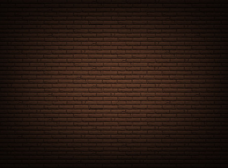 Brown background with realistic bricklaying wall. Vector textured illustration.