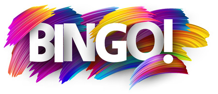 Bingo sign. Colorful brush design. Vector background. Stock Illustratie