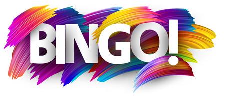 Bingo teken. Kleurrijk penseelontwerp. Vector achtergrond. Stockfoto - 106891970