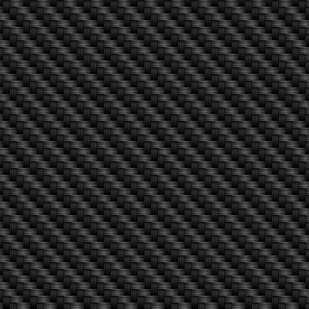 Black carbon texture with fiber weave structure. Vector background. Çizim