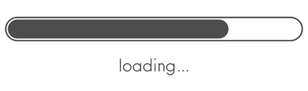 Loading progress bar. Grey scale. Vector background.