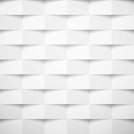 White square abstract background. Texture geometric checkered cover design pattern. Vector illustration.