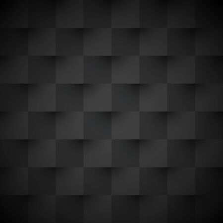 Black square abstract background. Texture geometric checkered cover design pattern. Vector illustration.
