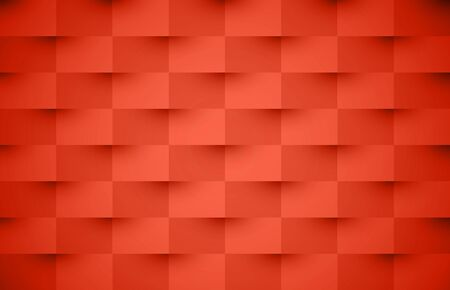 Living coral horizontal abstract background. Texture geometric checkered cover design pattern. Vector illustration. Stockfoto - 128505377