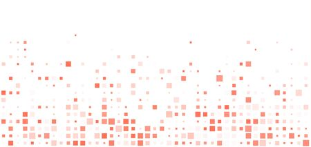 Technology white horizontal abstract background composed of living coral squares. Dotted Vector pattern illustration.