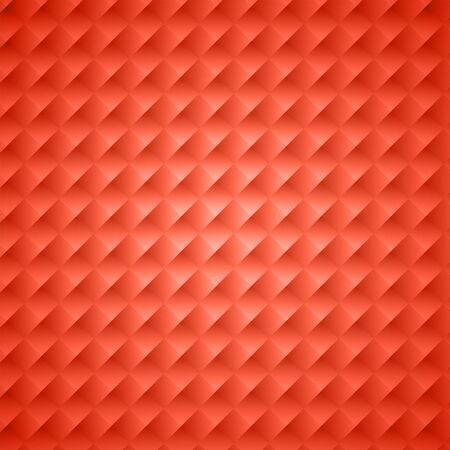 Living coral square abstract background. Texture geometric checkered cover design pattern. Vector illustration.