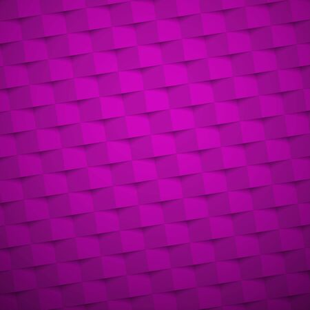 Purple square abstract background. Texture geometric checkered cover design pattern. Vector illustration. Stock Illustratie
