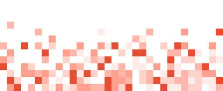 Living coral square abstract horizontal banner. Texture geometric checkered cover design pattern. Vector illustration.